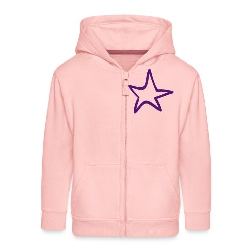 Star Outline Pixellamb - Kinder Premium Kapuzenjacke