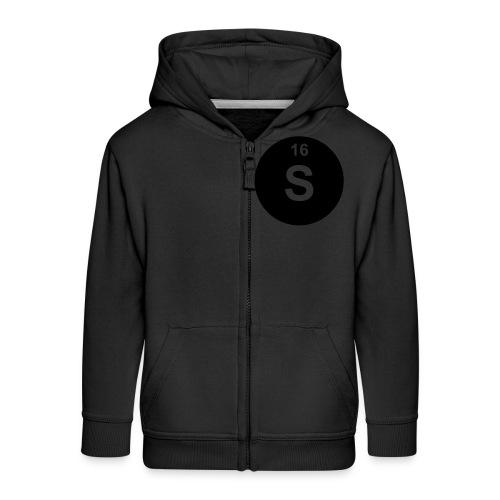 Sulfur (S) (element 16) - Kids' Premium Zip Hoodie