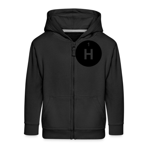 Hydrogen (H) (element 1) - Kids' Premium Zip Hoodie