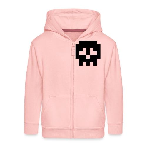 Retro Gaming Skull - Kids' Premium Zip Hoodie