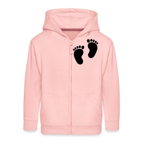 Baby voetjes - Kinderen Premium jas met capuchon