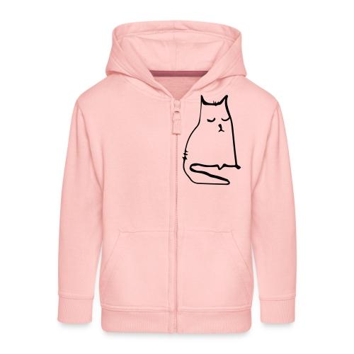 sad cat - Kinder Premium Kapuzenjacke