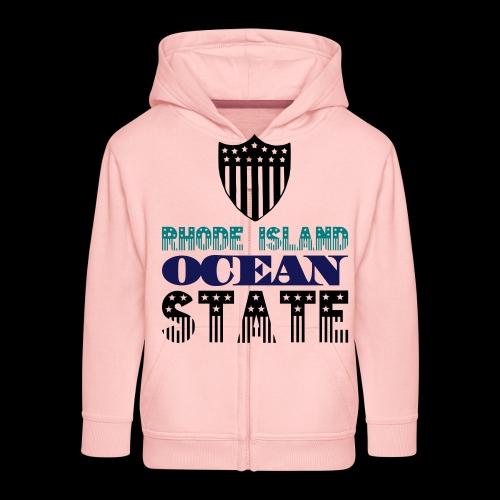 rhode island ocean state - Kids' Premium Zip Hoodie