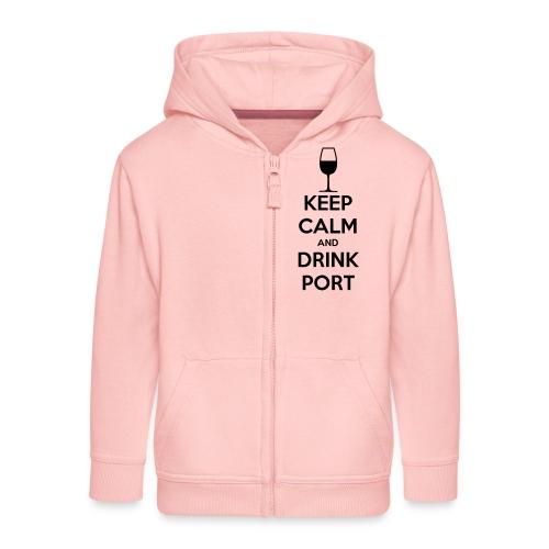 Keep Calm and Drink Port - Kids' Premium Zip Hoodie