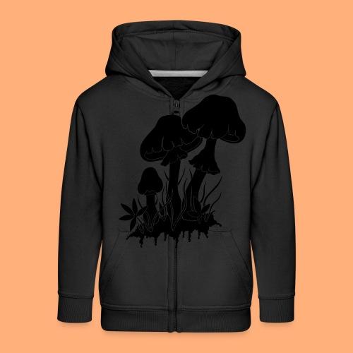 champignons noir et blanc - Veste à capuche Premium Enfant