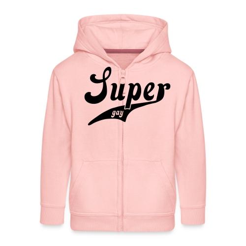 super_gay - Kids' Premium Zip Hoodie