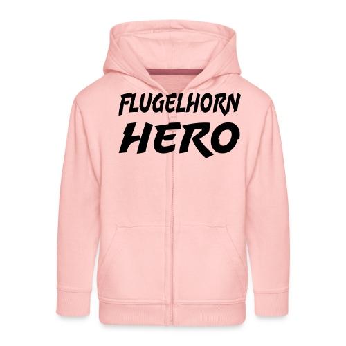 Flugelhorn Hero - Kids' Premium Zip Hoodie