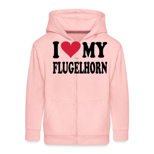 I LOVE MY FLUGELHORN - Premium Barne-hettejakke