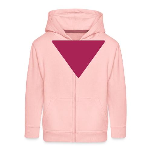 Less is more triangle - Kinderen Premium jas met capuchon