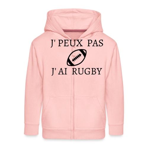 J'peux pas J'ai rugby - Veste à capuche Premium Enfant
