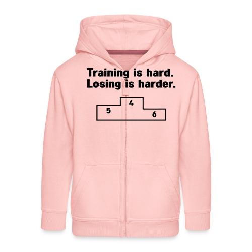 Training vs losing - Kids' Premium Zip Hoodie