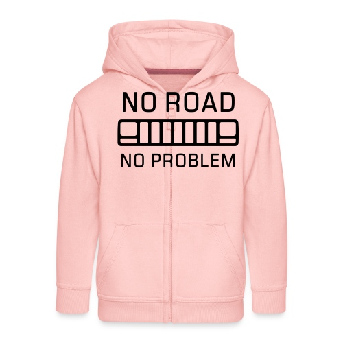 No Road, No Problem - Autonaut.com - Kids' Premium Zip Hoodie