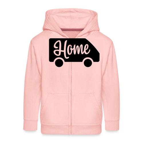 Home in a van - Autonaut.com - Kids' Premium Zip Hoodie