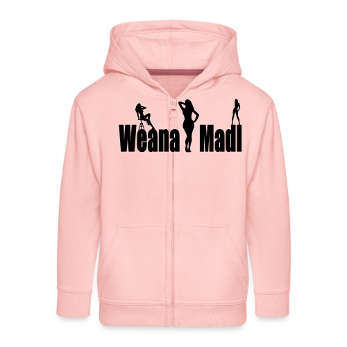weana madl - Kinder Premium Kapuzenjacke