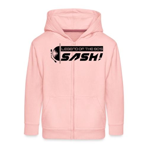 DJ SASH! Turntable 2020 Logo - Kids' Premium Hooded Jacket