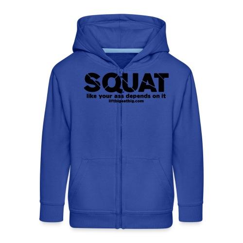 squat - Kids' Premium Zip Hoodie