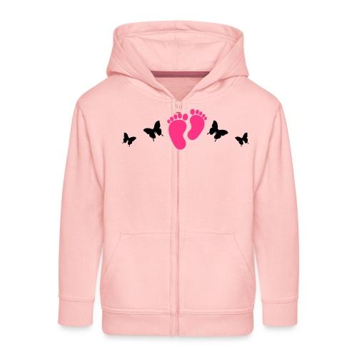 vlinders en baby voetjes - Kinderen Premium jas met capuchon