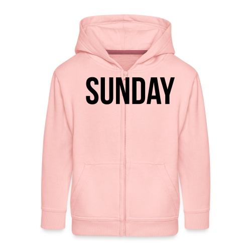 Sunday - Kids' Premium Zip Hoodie