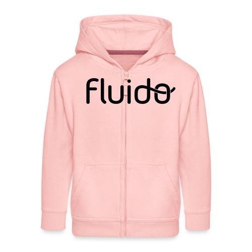 fluidologo_musta - Lasten premium hupparitakki