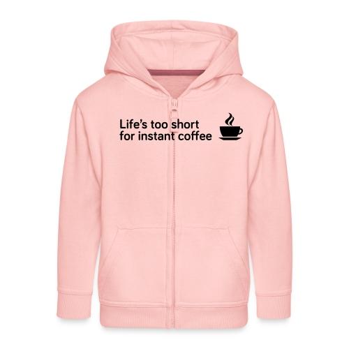 Coffee Life's Too Short - Kids' Premium Zip Hoodie