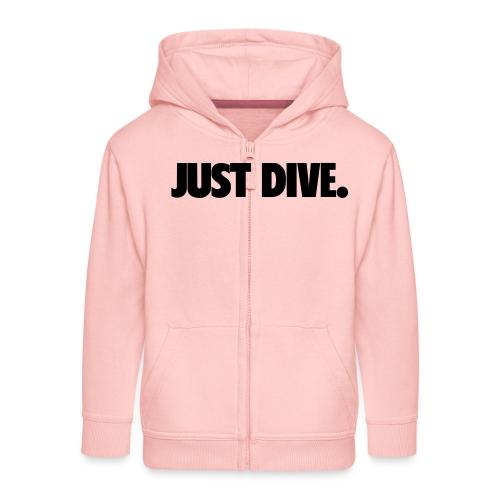 just, dive, nur - Rozpinana bluza dziecięca z kapturem Premium