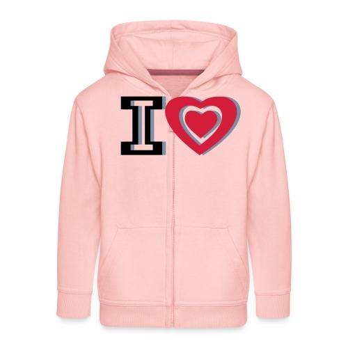 I LOVE I HEART - Kids' Premium Zip Hoodie