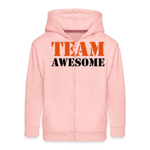 Team awesome - Kids' Premium Zip Hoodie