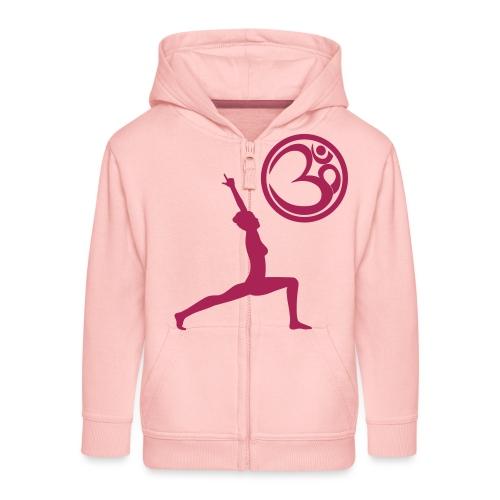 Der Held Yoga Asana Warrior mit OM Symbol Cool - Kinder Premium Kapuzenjacke