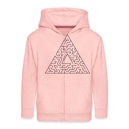 Triangle Maze - Kids' Premium Zip Hoodie