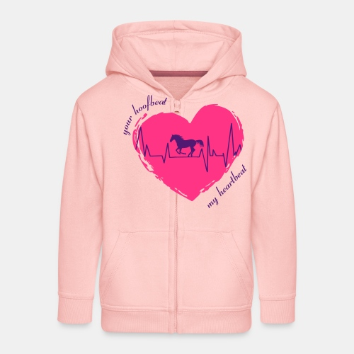 your hoofbeat is my heartbeat galopp_pferd - Kinder Premium Kapuzenjacke