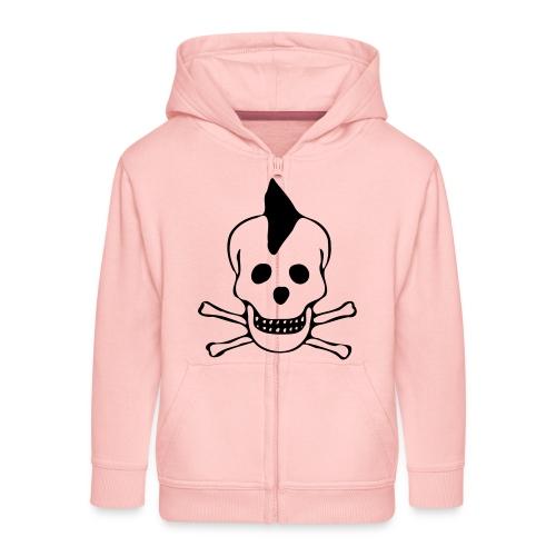skull totenkopf punk - Kinder Premium Kapuzenjacke