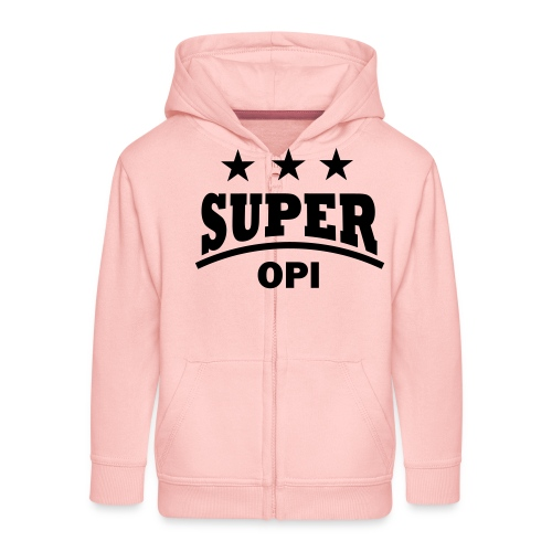 cool super opi raster - Kinderen Premium jas met capuchon