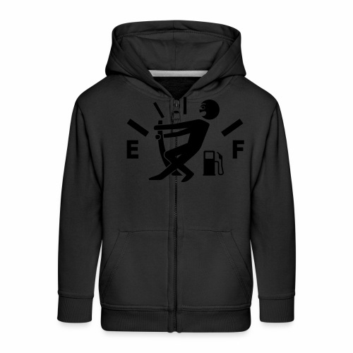 Empty tank - no fuel - fuel gauge - Kids' Premium Zip Hoodie