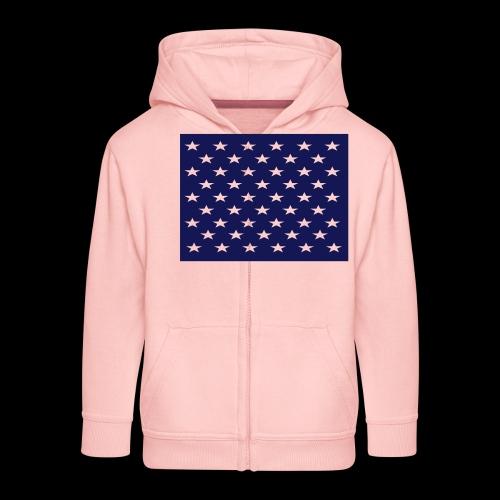 stars and stripes part1 - Kids' Premium Zip Hoodie