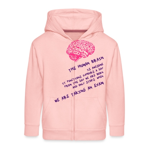 Human Brain - Felpa con zip Premium per bambini