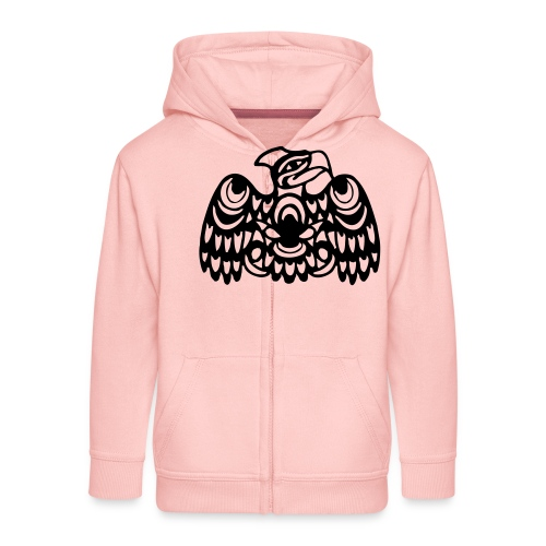 EAGLE WEST COAST SALISH (tribal collection) - Kids' Premium Zip Hoodie