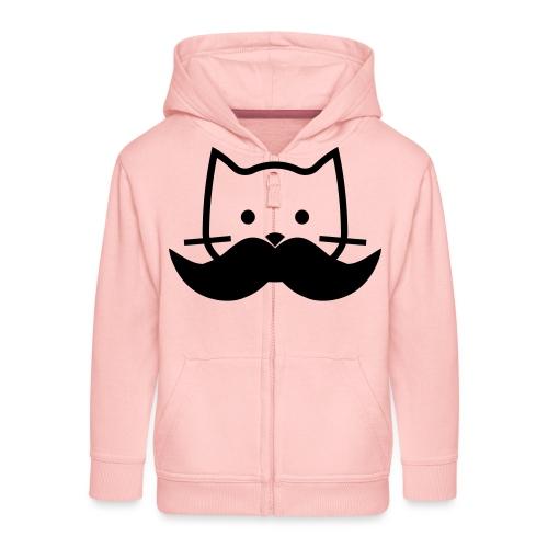 Katze mir Schnurrbart - Kinder Premium Kapuzenjacke