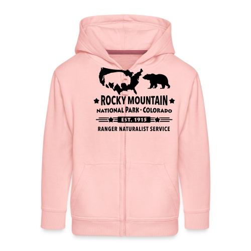 Rocky Mountain Nationalpark Berg Bison Grizzly Bär - Kids' Premium Zip Hoodie