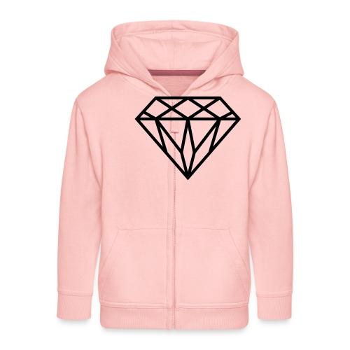 Diamond Graphic // Diamant Grafik - Kinder Premium Kapuzenjacke