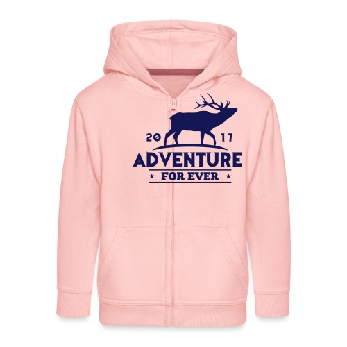 ADVENTURE FOR EVER - CERVO - Felpa con zip Premium per bambini