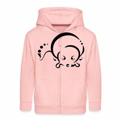 Otter, Tribal Design - Kids' Premium Zip Hoodie