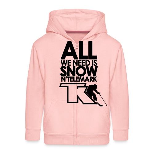All we need is snow'n telemark - Veste à capuche Premium Enfant