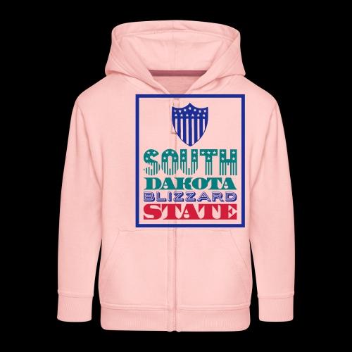 South Dakota blizzard state - Kids' Premium Zip Hoodie
