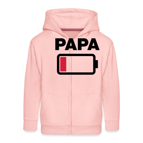 Batterij papa leeg - Kinderen Premium jas met capuchon
