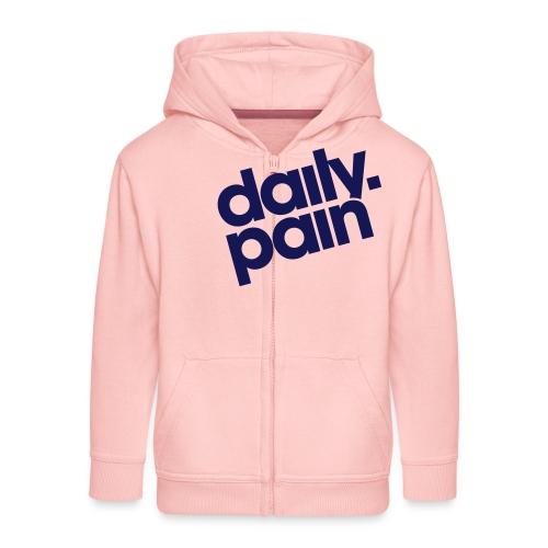 daily pain classic - Rozpinana bluza dziecięca z kapturem Premium