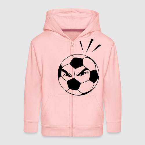 energischer Fußball - Kinder Premium Kapuzenjacke