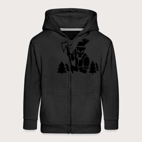 Holzfäller - Kinder Premium Kapuzenjacke
