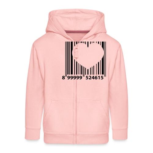 barcode love - Kinderen Premium jas met capuchon