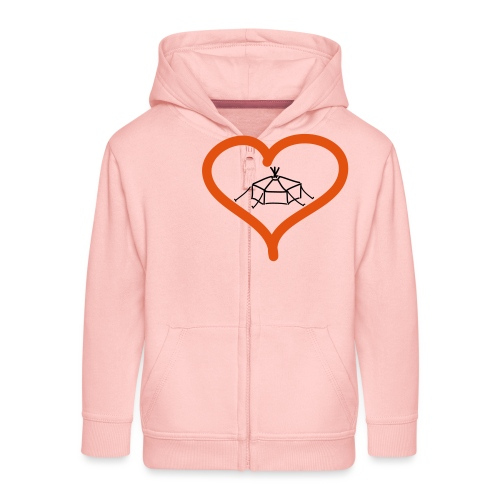 Herzjurte - Kinder Premium Kapuzenjacke