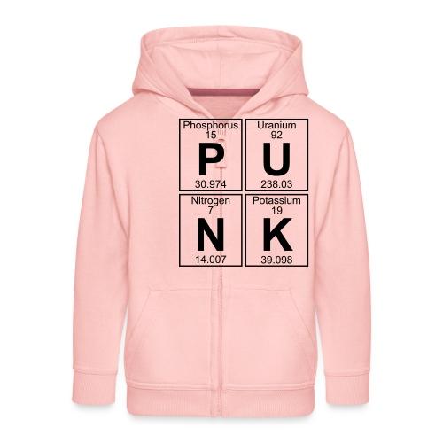 P-U-N-K (punk) - Full - Kids' Premium Zip Hoodie